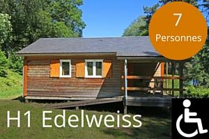 Chalet lac des settons mobilite reduite H1 Edelweiss 7 places