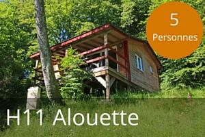 Chalet lac des settons H11 Alouette 5 places