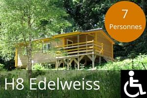 Chalet lac des settons H8 Edelweiss mobilite reduite 7 places